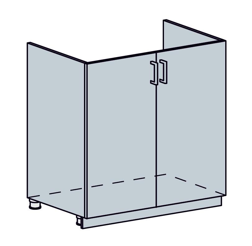 VEGAS dolná skrinka drezová 60DZ, sv.zelený metalic