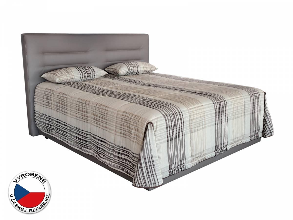 Manželská posteľ 180 cm Blanár Real (svetlohnedá) (s roštami a matracom Nelly Plus)