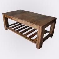 Furniture nábytok  Masívny konferenčný stolík z Palisanderu  Ganéš  90x60x45 cm