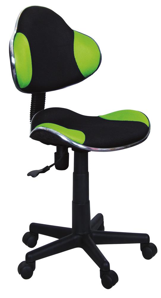 Detská stolička Q-G2 látka, čierno-zelená