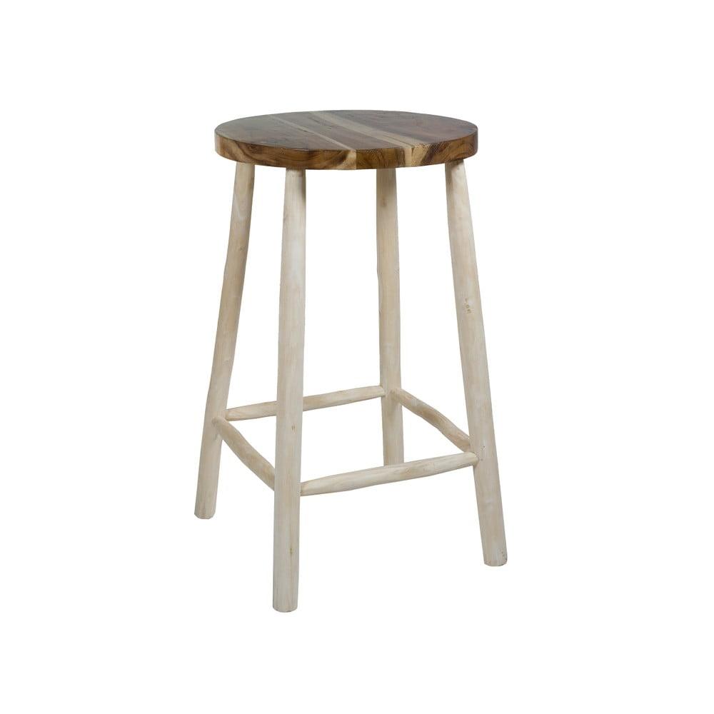 Barová stolička z teakového dreva Santiago Pons Capri