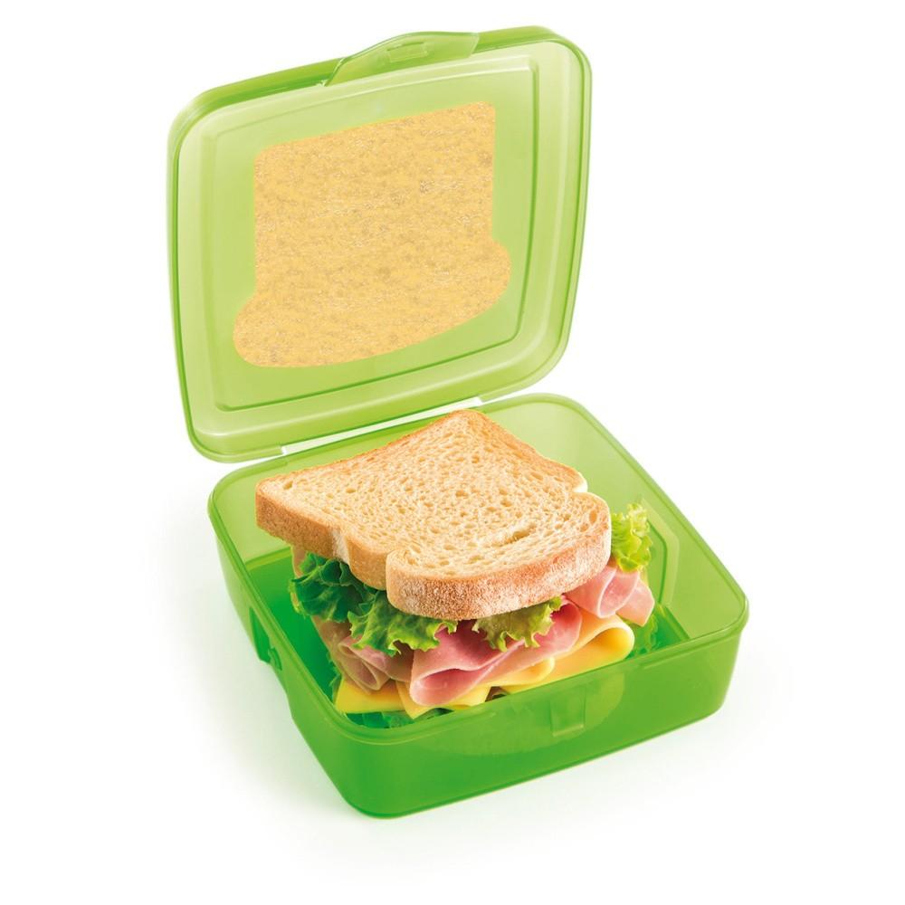 Zelený desiatový box na sendvič s chladičom Snips Sandwich