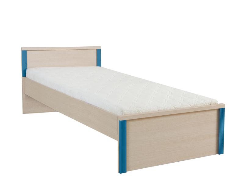Jednolôžková posteľ Caps LOZ/90   Farba: dub jasný belluno/ modrá