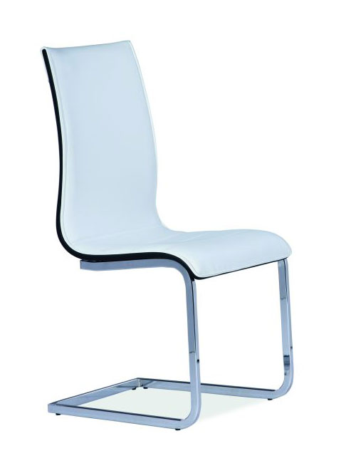Jedálenská stolička HK-133, biela/čierna