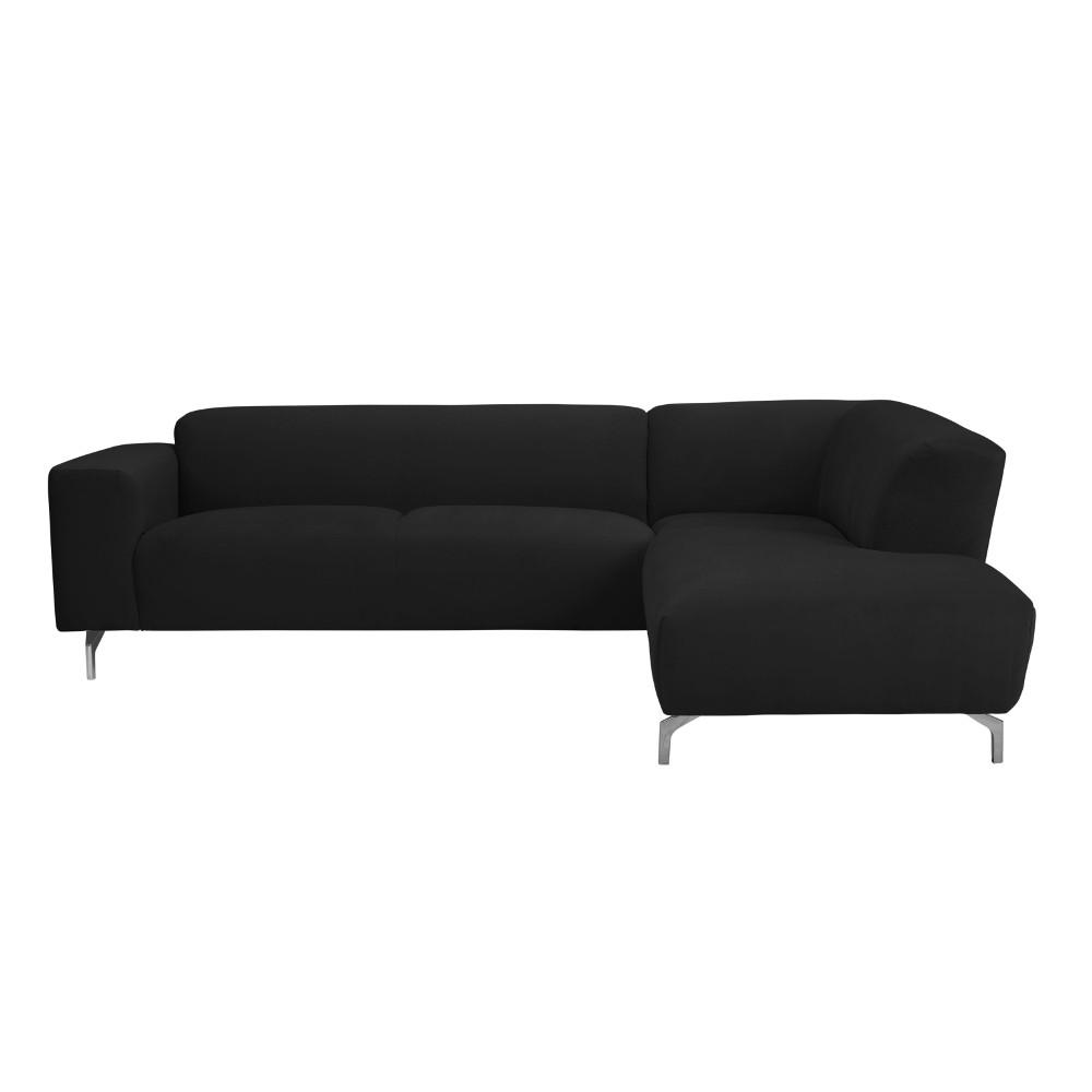 Čierna rohová pohovka Windsor & Co Sofas Orion, pravý roh