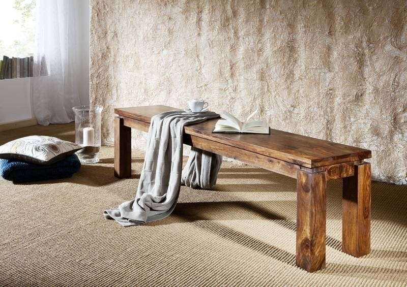 METRO LIFE #163 Sheesham lavica 200x35 , masívne palisandrové drevo