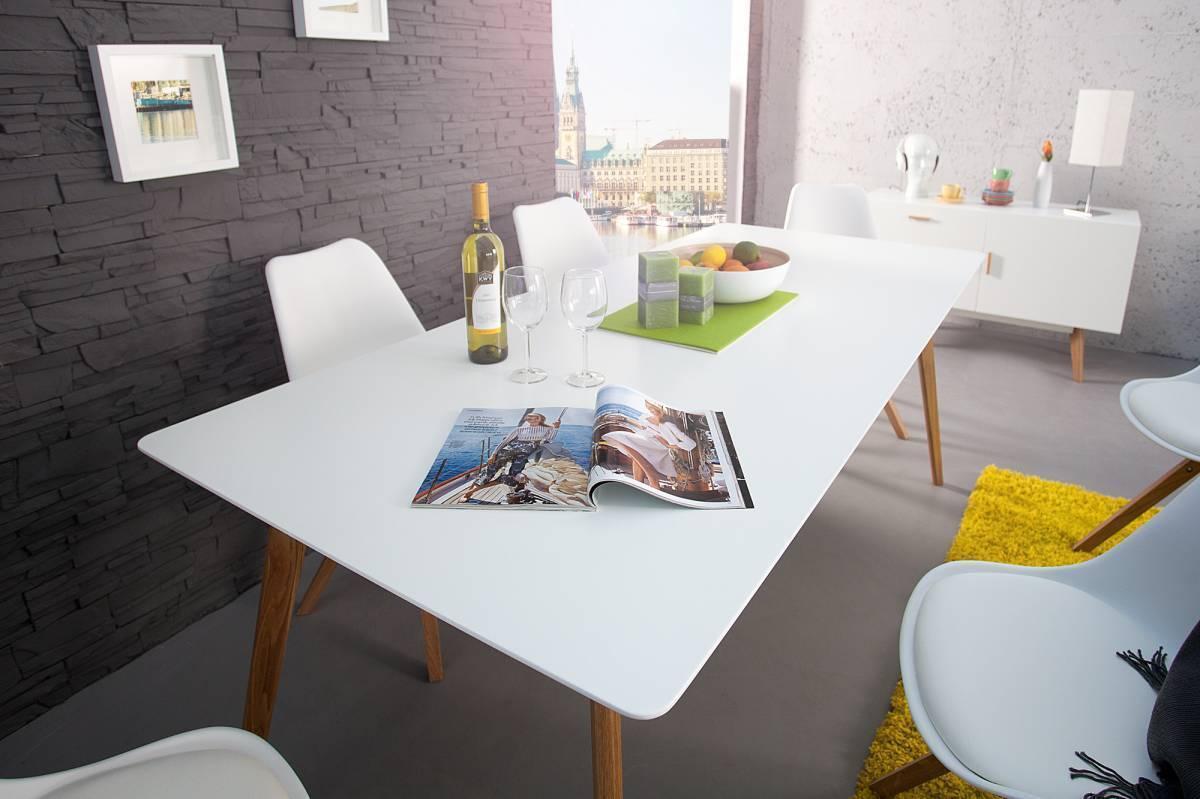 Jedálenský stôl SCANIA MEISTER 160cm - biela