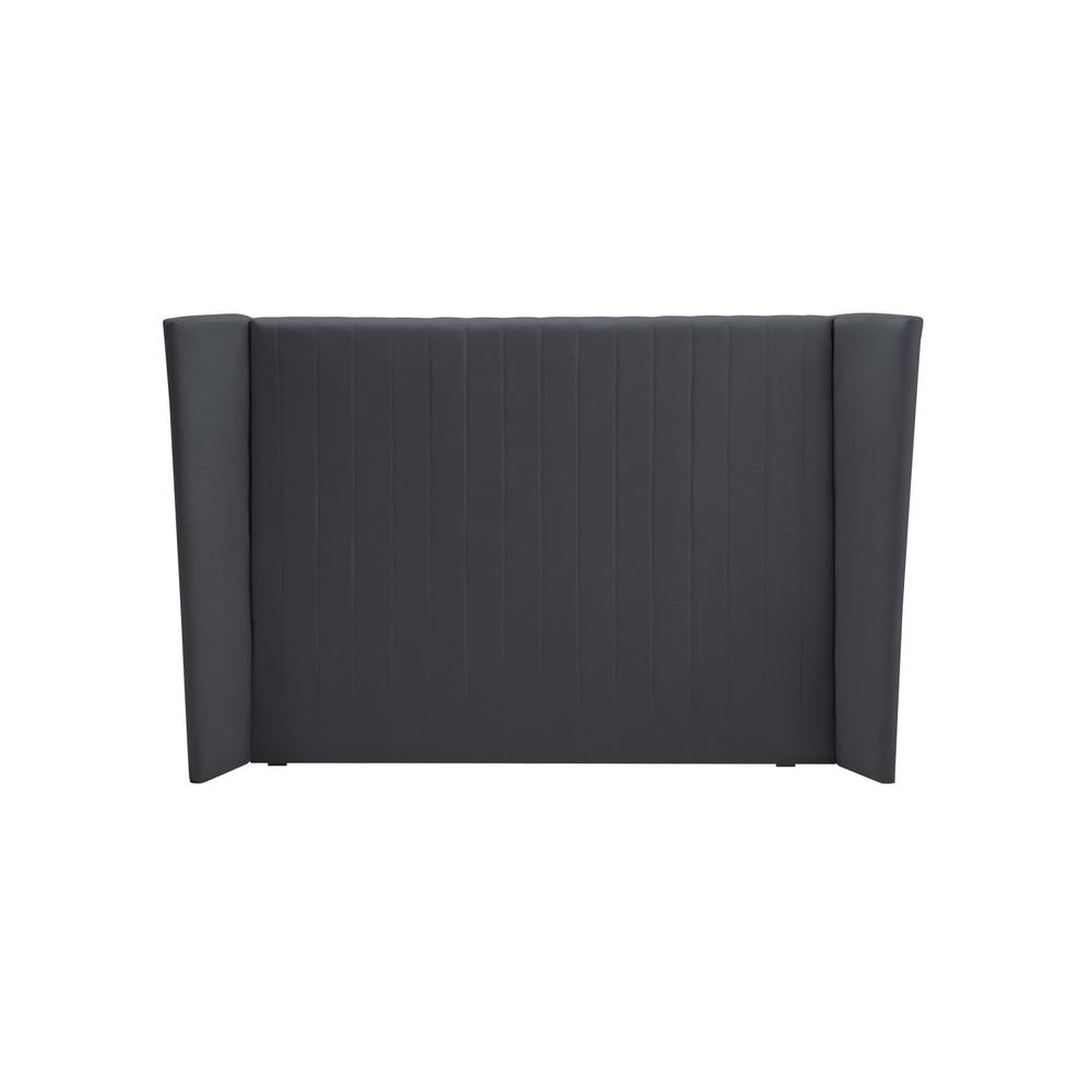 Sivé čelo postele Cosmopolitan design Vegas, 140×120 cm