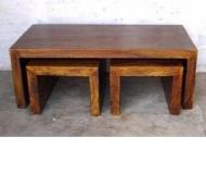 Konferencny stolik - set - 120x60x45 cm