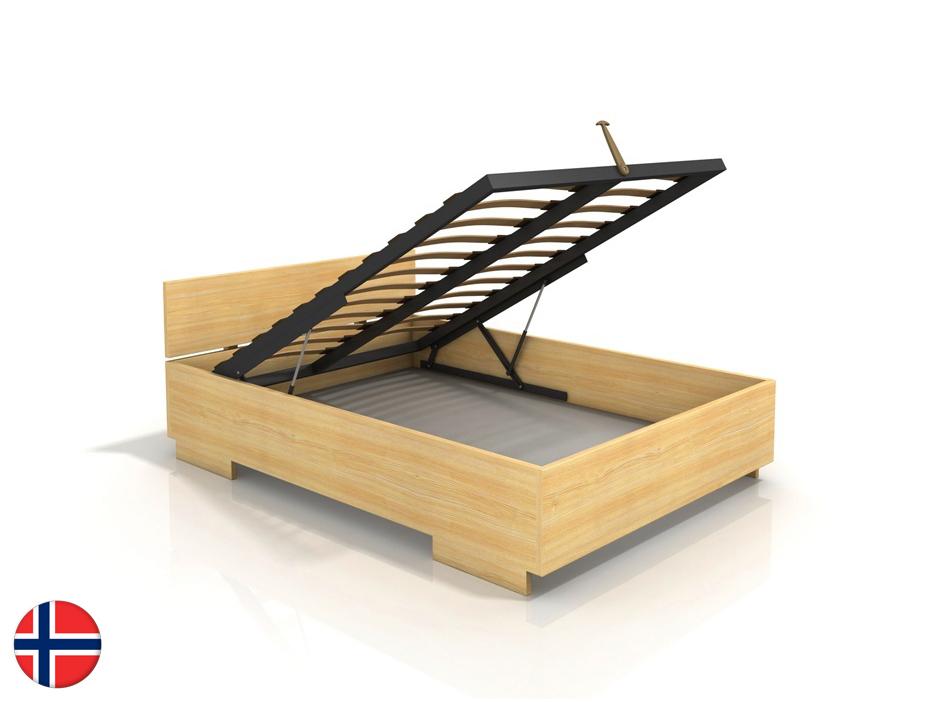 Manželská posteľ 160 cm Naturlig Larsos High BC (borovica) (s roštom)
