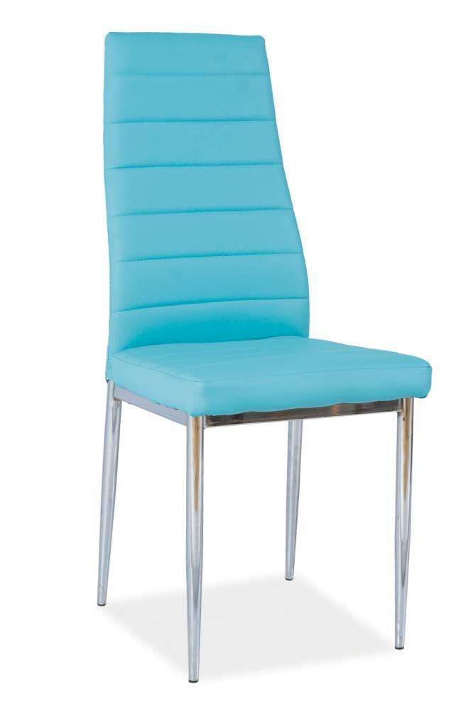 Jedálenská stolička H-261 (ekokoža modrá)