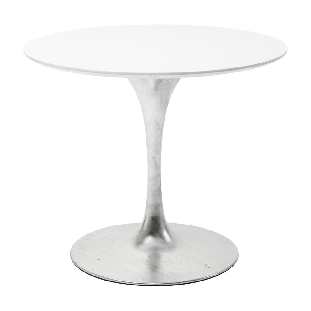 Biela doska jedálenského stola Kare Design Invitation, ⌀ 90 cm