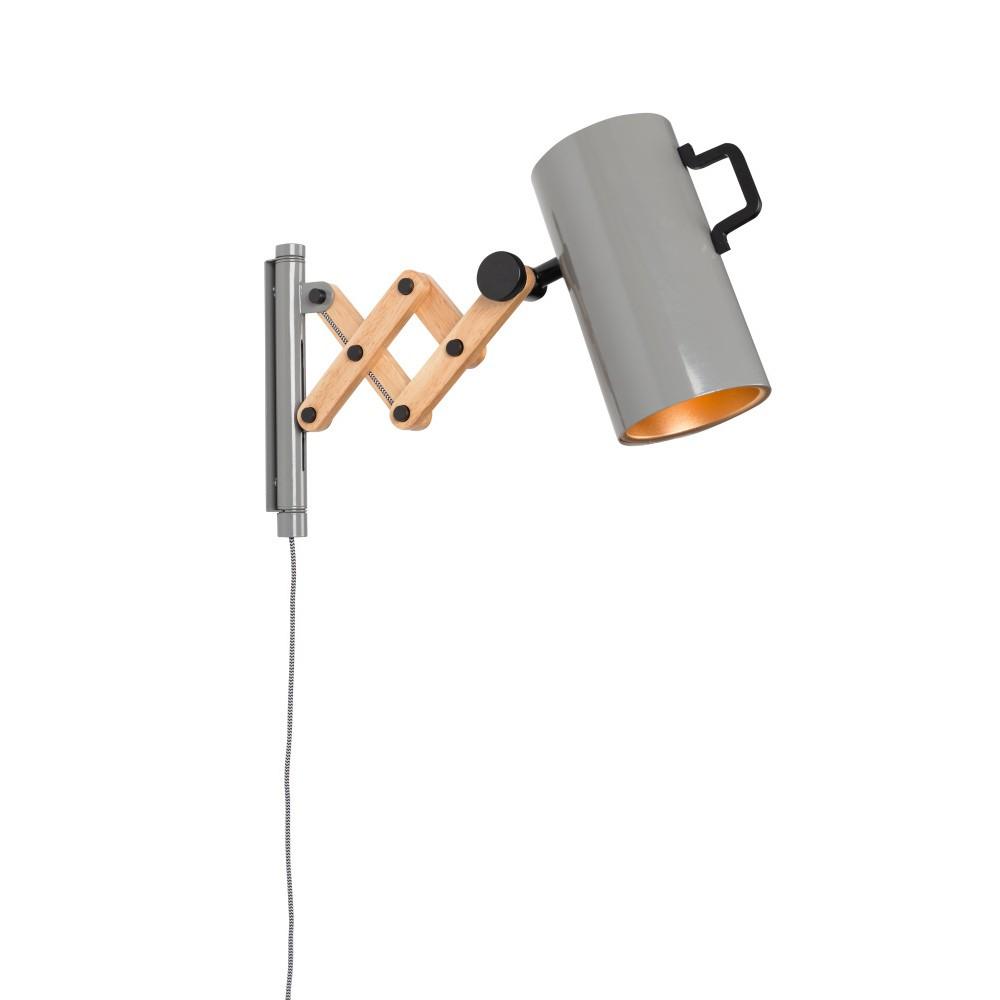 Sivá nástenná lampa Zuiver Flex