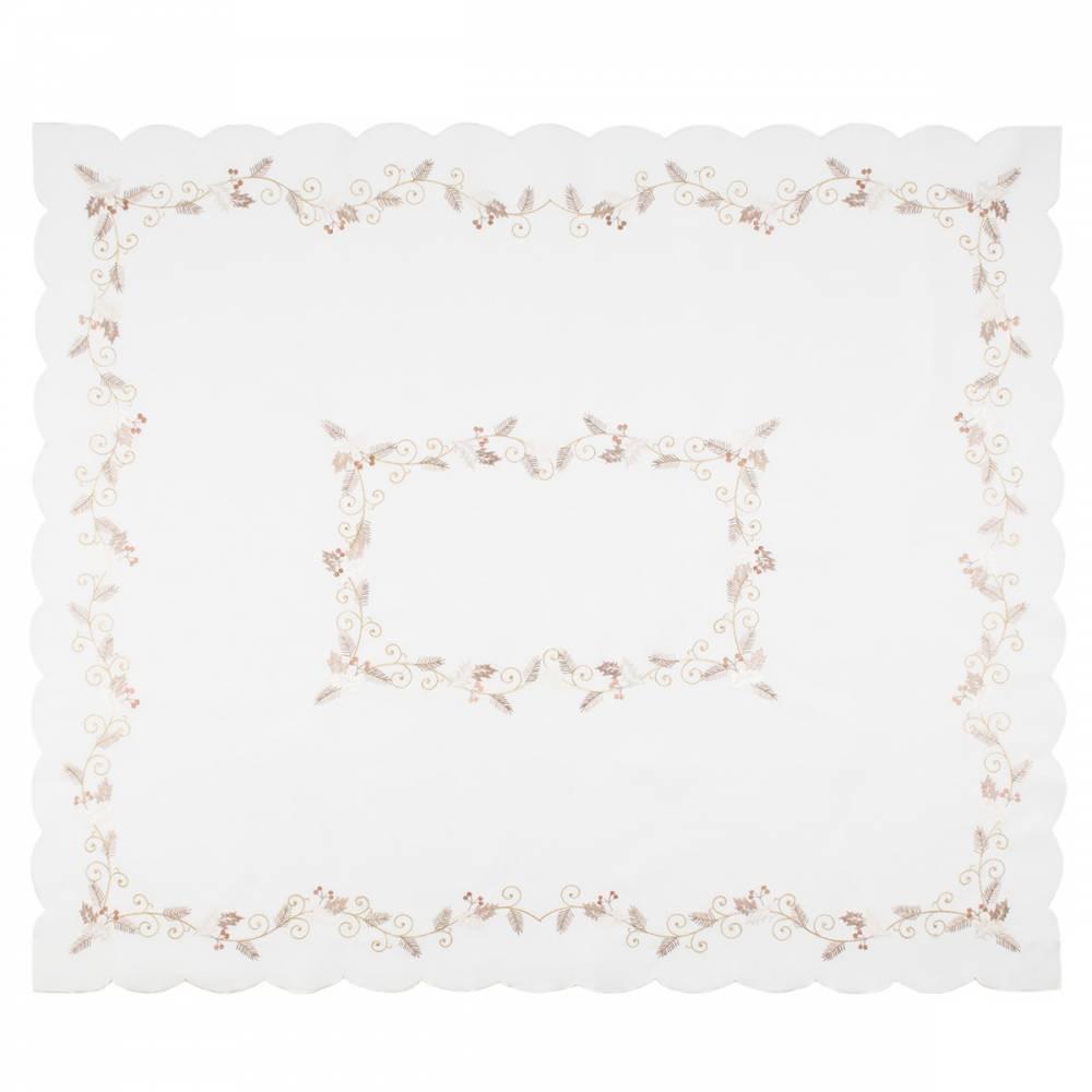 Forbyt Vianočný obrus Cezmína biela, 120 x 140 cm, 120 x 140 cm