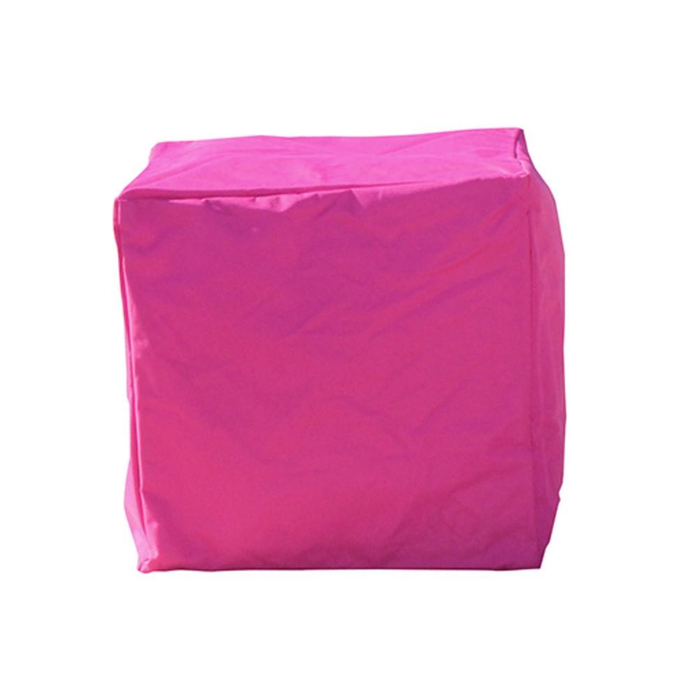 Ružový vonkajší vodoodolný puf Sunvibes Cube