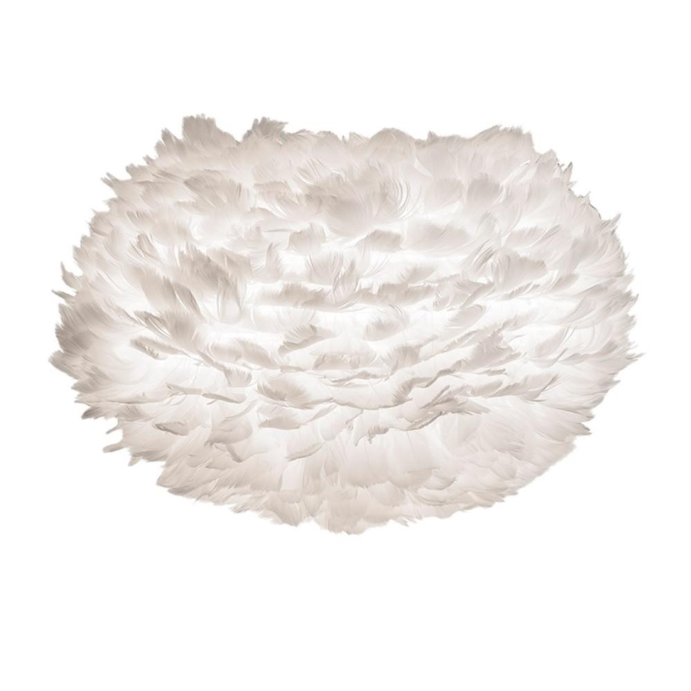 Biele svietidlo z husieho peria VITA Copenhagen EOS, Ø 30 cm