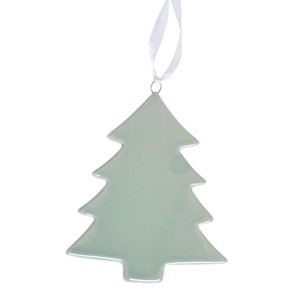 Zelená závesná keramická dekorácia Ewax Tree