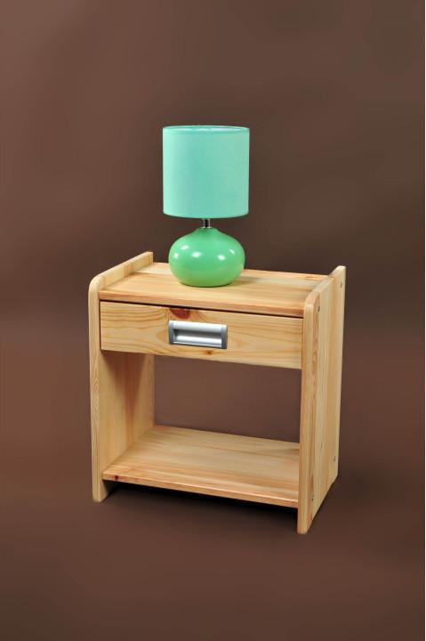 Nočný stolík, borovica, WIKTOR WK-01.1