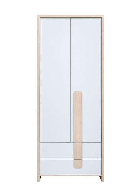 Šatníková skriňa Colorado SZF2D2S   Farba: dub svetlý belluno / biela / agát
