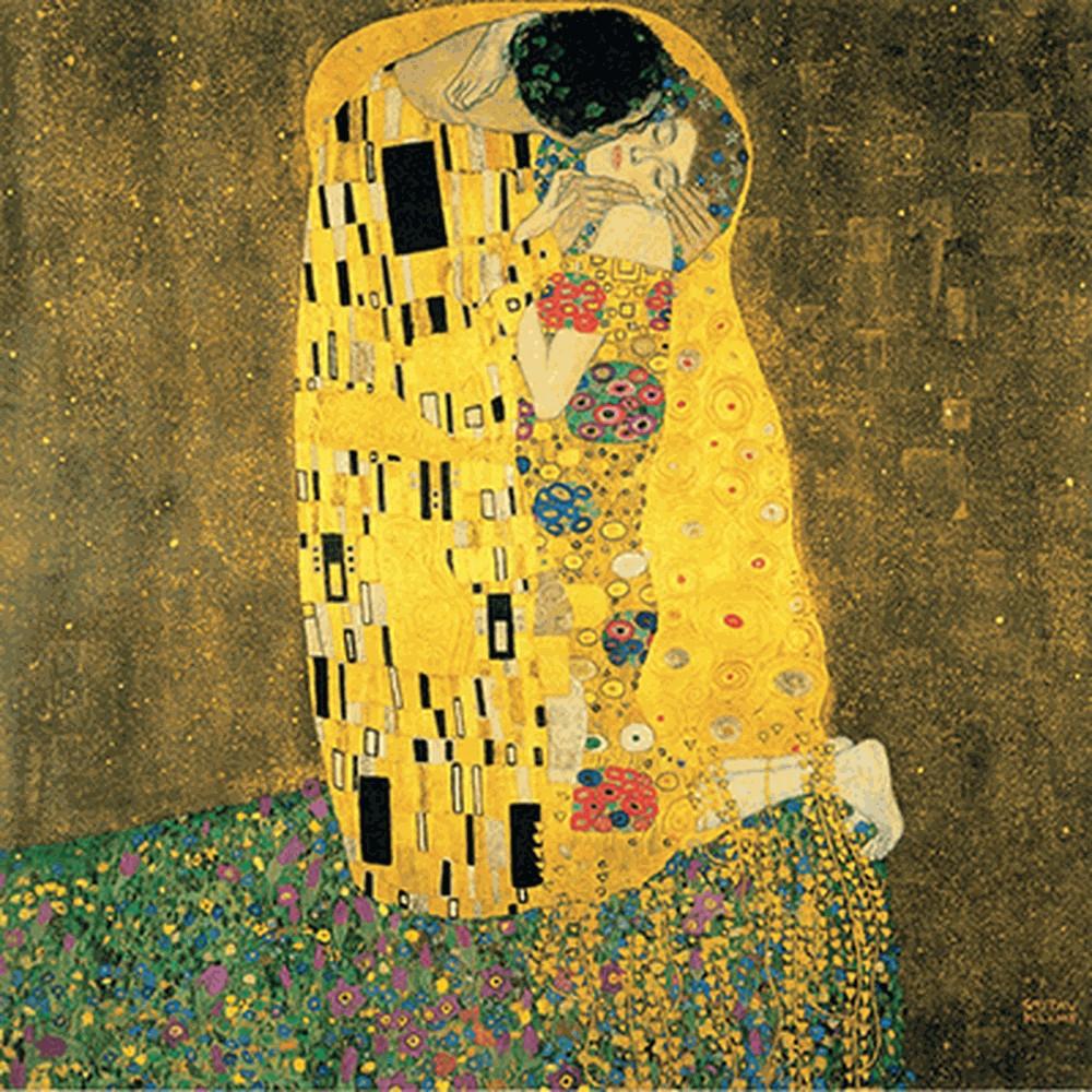 Obraz Gustav Klimt - The Kiss, 40x40cm