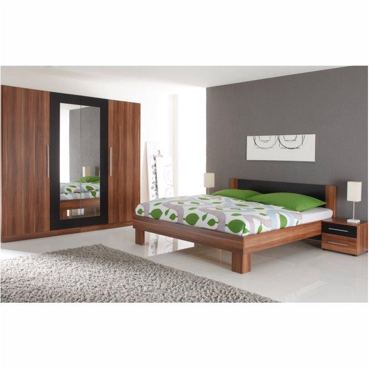 Spálňa, komplet, orech/čierna, MARTINA