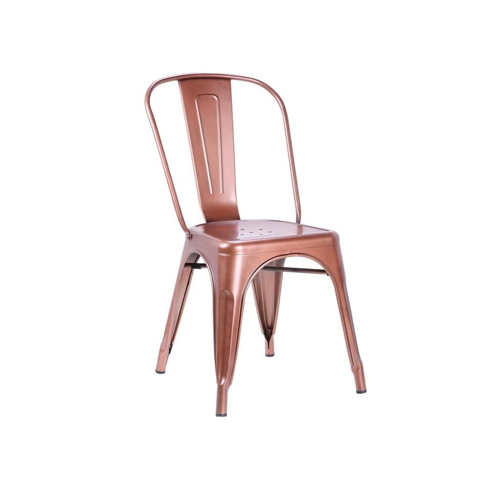 Sada 2 stoličiek v medenej farbe Leitmotiv Dazzle