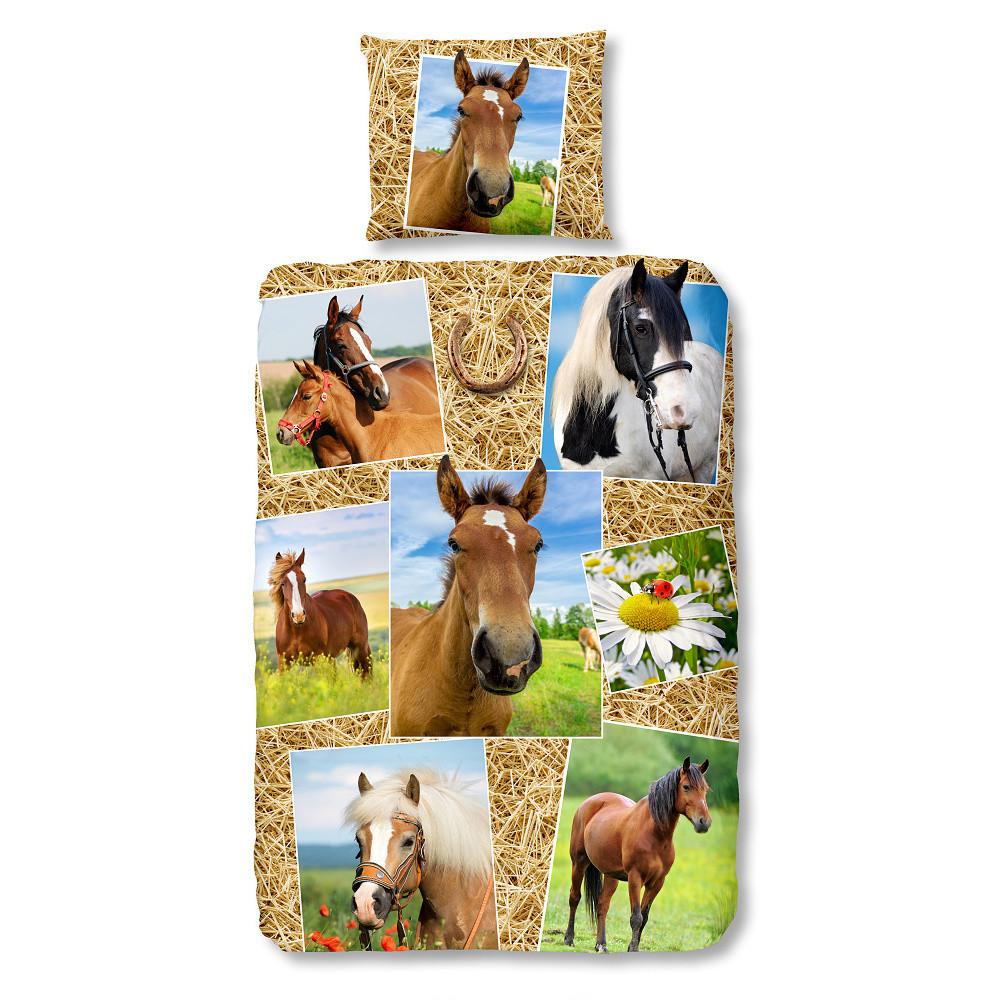 Detské bavlnené obliečky Müller Textiels Horses, 140 x 200 cm