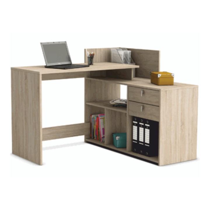 Rohový PC stolík Vista dub Sonoma