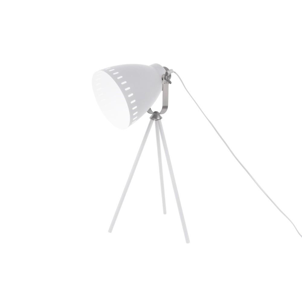 Biela stolová lampa Leitmotiv Tristar
