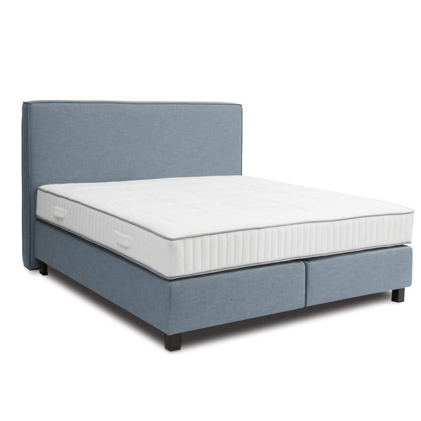 Modrá boxspring posteľ Revor Milano, 200 x 200 cm