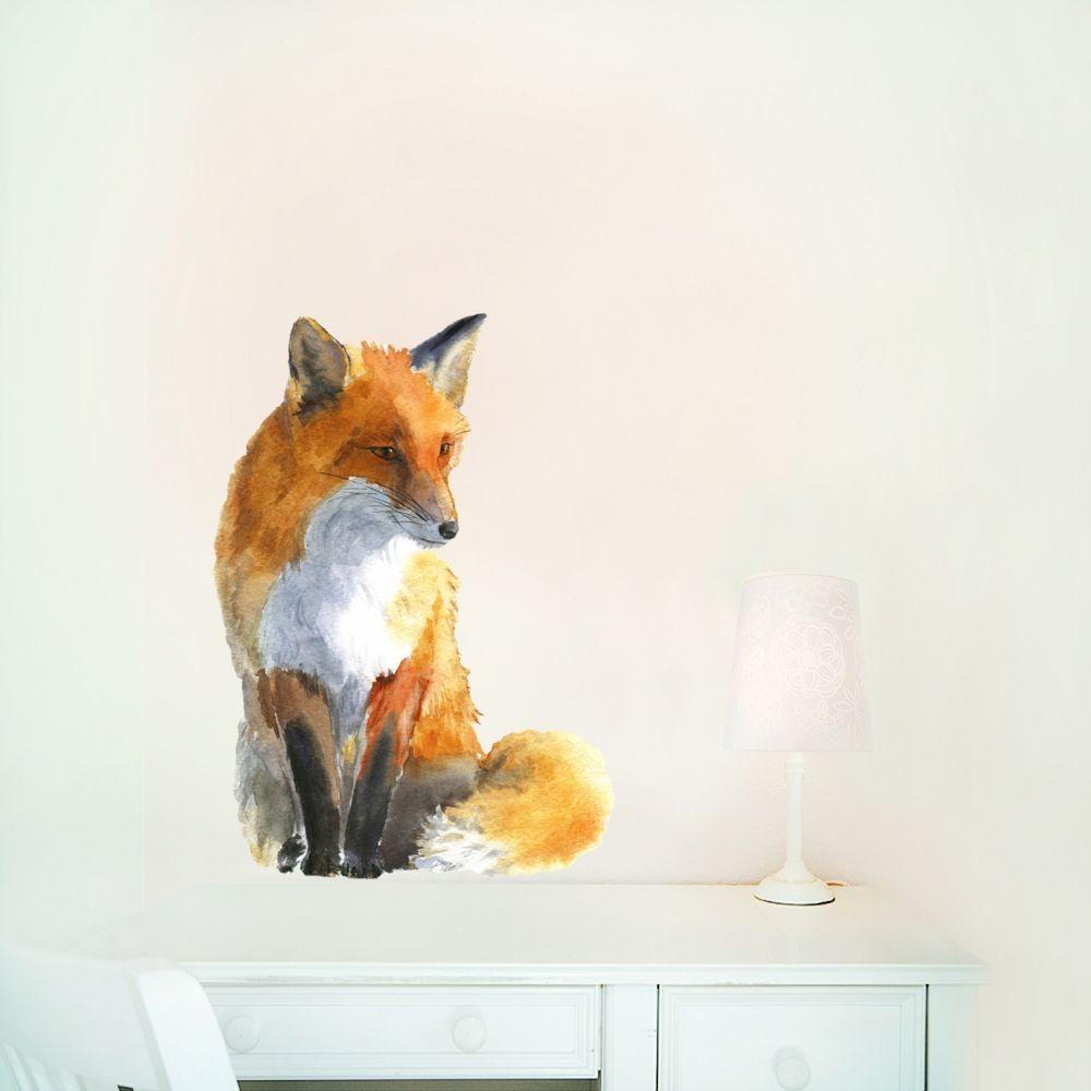 Samolepka na viac použití Fox Small, 42x30 cm