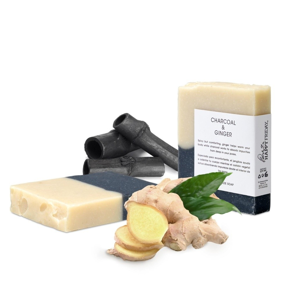 Prírodné mydlo s aktívnym uhlím a zázvorom HF Living