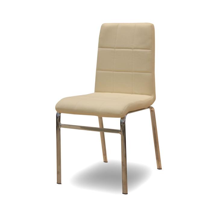 TEMPO KONDELA DOROTY NEW jedálenská stolička - béžová ekokoža