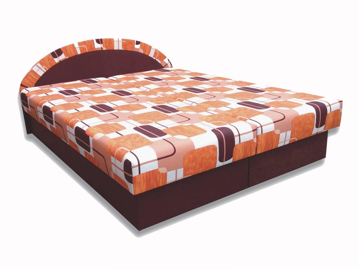 Manželská posteľ 160 cm Elena (hnedá) (s matracom)
