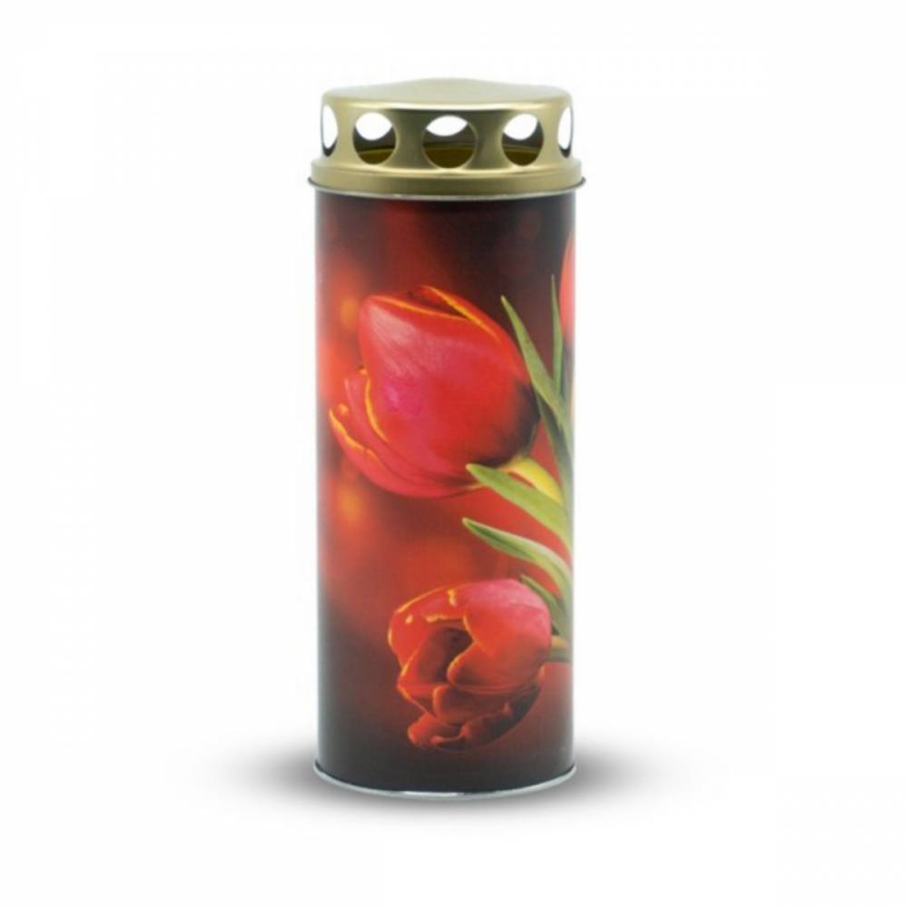 Náhrobná sviečka Tulipán, 6 x 16,5 cm, 195 g