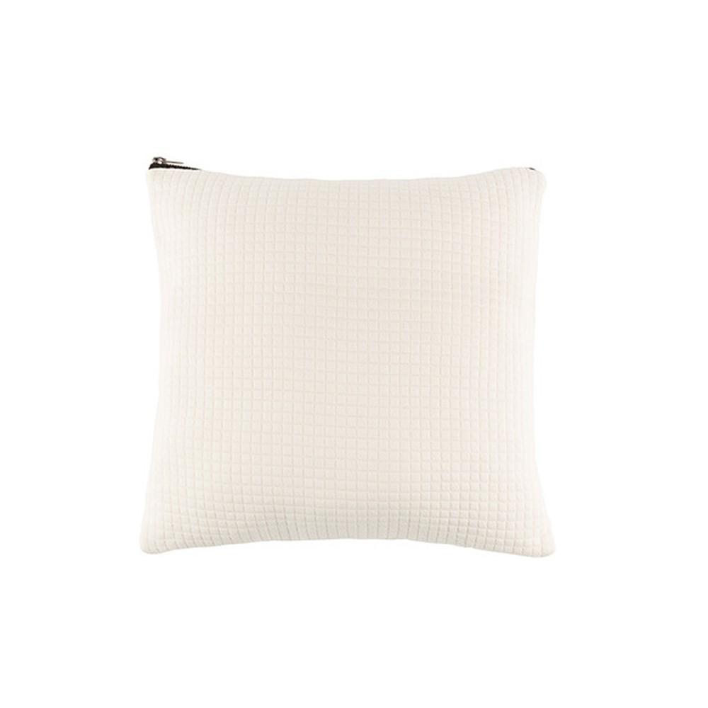 Biely vankúš White Label Elle, 45 x 45 cm