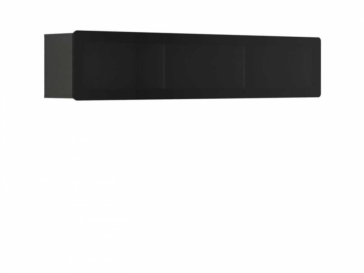 Vitrína na stenu Possi Light SFW1WK/4/20 (sivý wolfram) (s osvetlením)