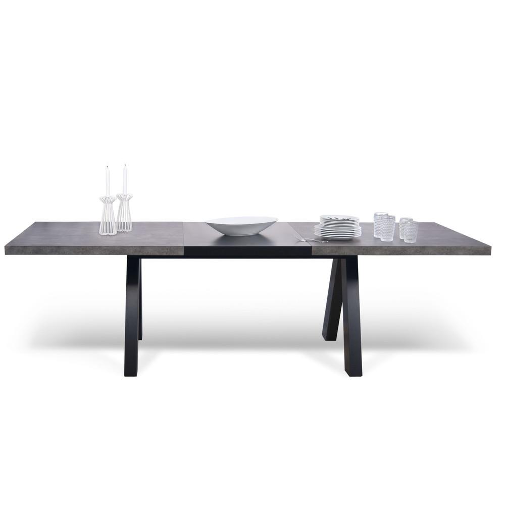 Sivý rozkladací jedálenský stôl TemaHome Apex
