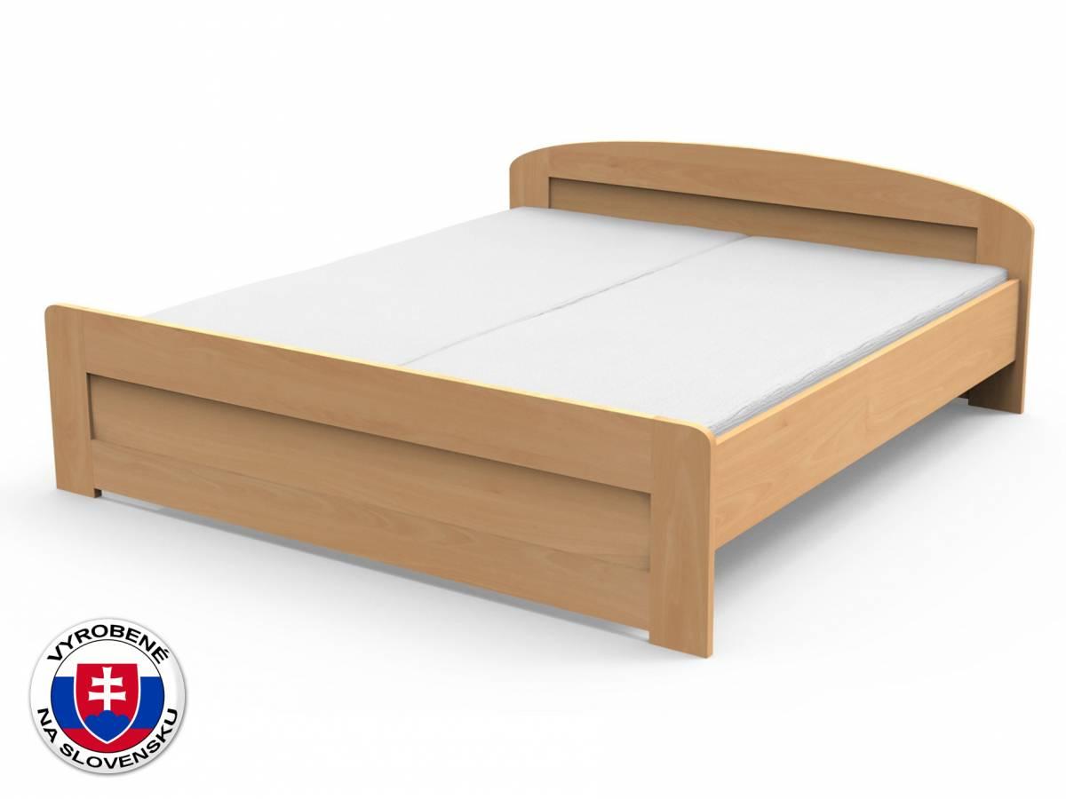 Manželská posteľ 210x160 cm Petra rovné čelo pri nohách (masív)