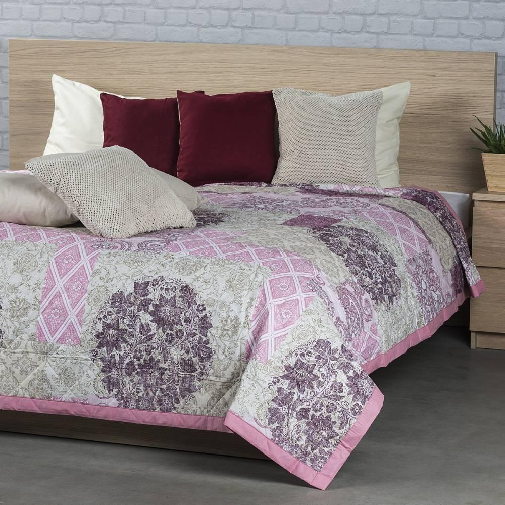 Prehoz na posteľ Ottorino fialová, 160 x 220 cm