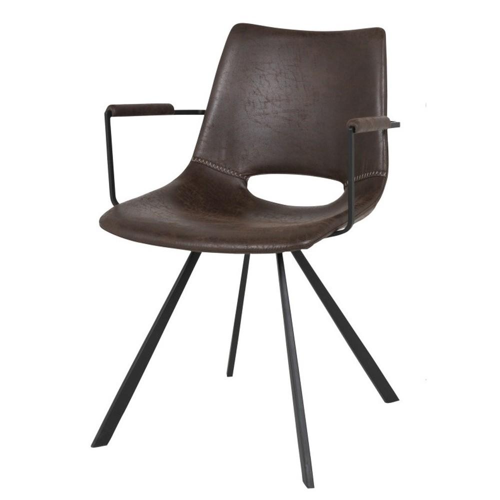 Tmavohnedá jedálenská stolička Canett Coronas