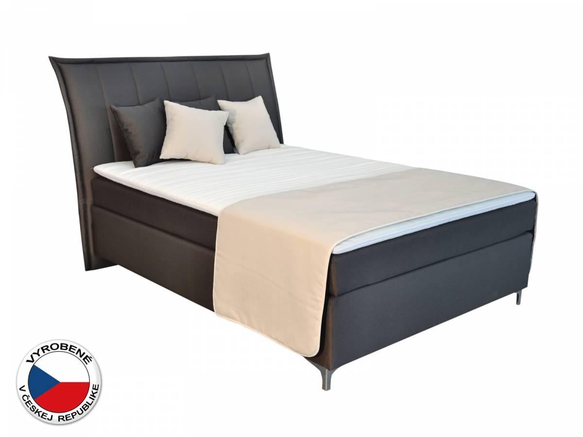 Manželská posteľ Boxspring 140 cm Blanár Colorado (hnedá) (s matracmi)