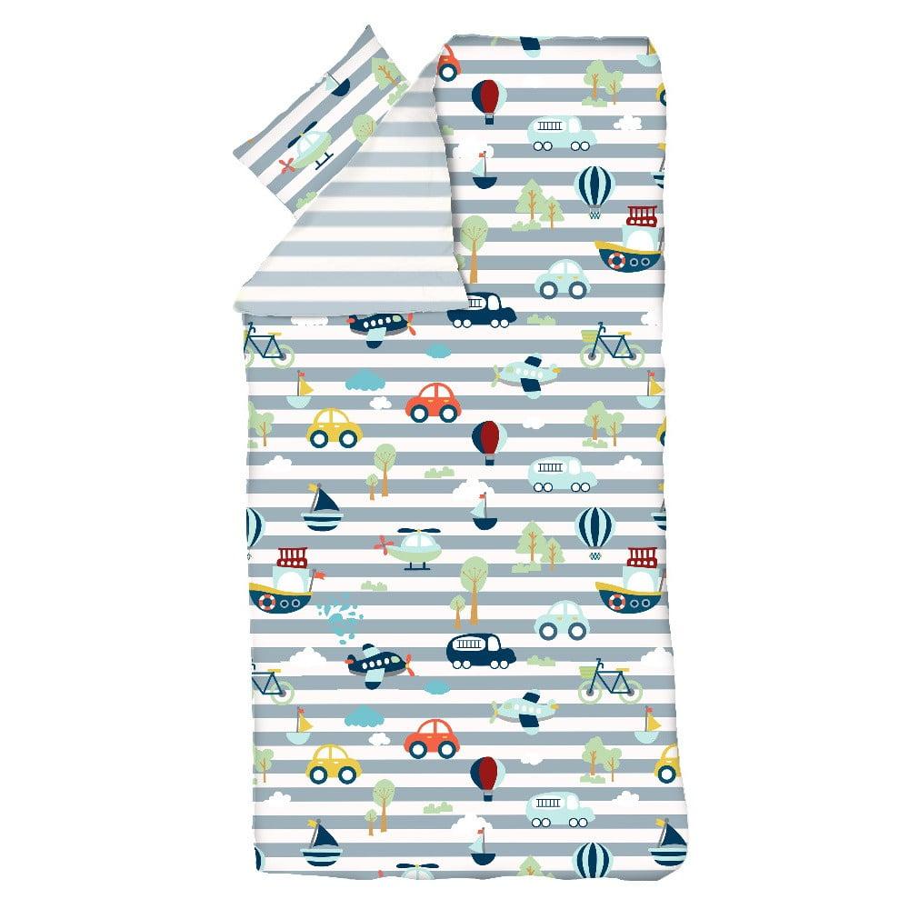 Detské obliečky Flexa Transport, 140 x 200 cm + 60 x 63 cm