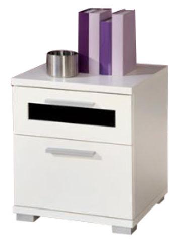 Nočný stolík Solido 9 biela