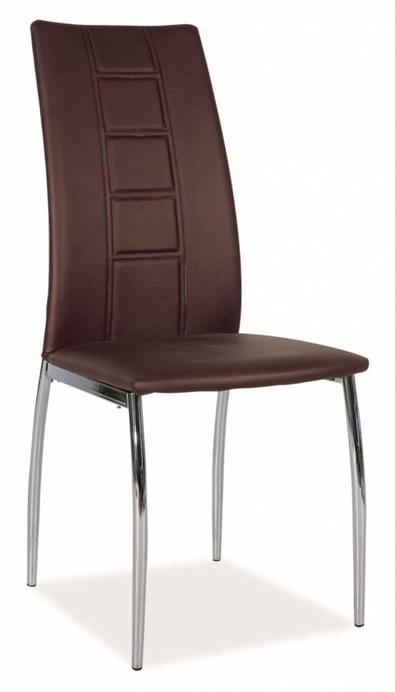 Jedálenská stolička HK-880, hnedá