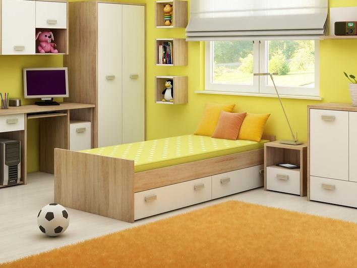 Jednolôžková posteľ 90 cm Kitty KIT 05