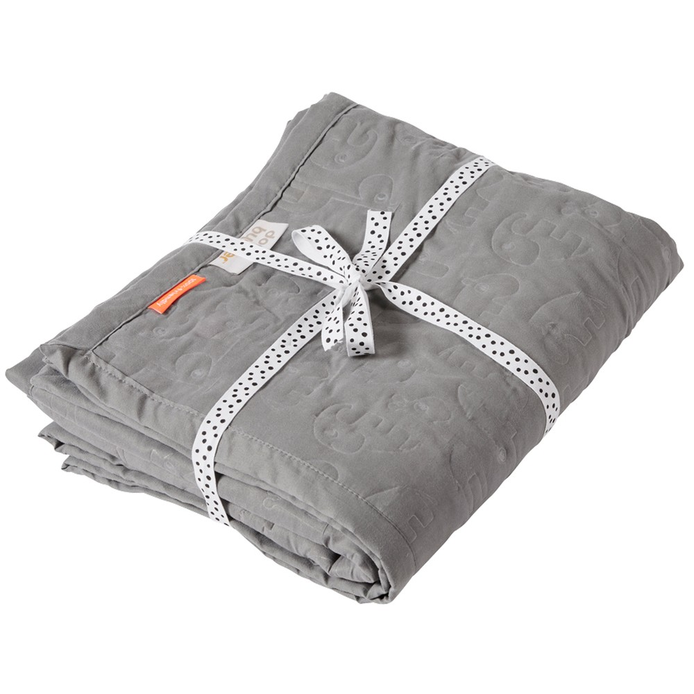 Sivá detská deka Done by Deer Contour, 120×150 cm