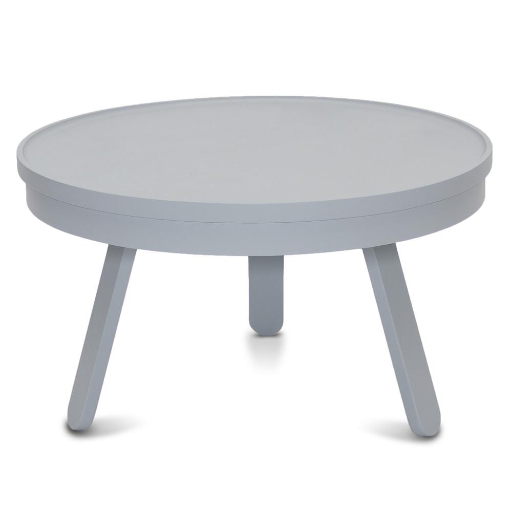 Sivý odkladací stolík s úložným priestorom Woodendot Batea M