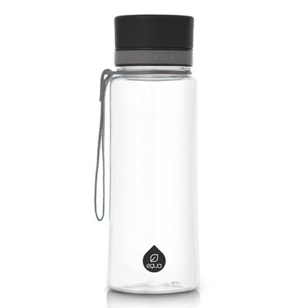 Plastová fľaša Equa Plain Black, 0,4 l