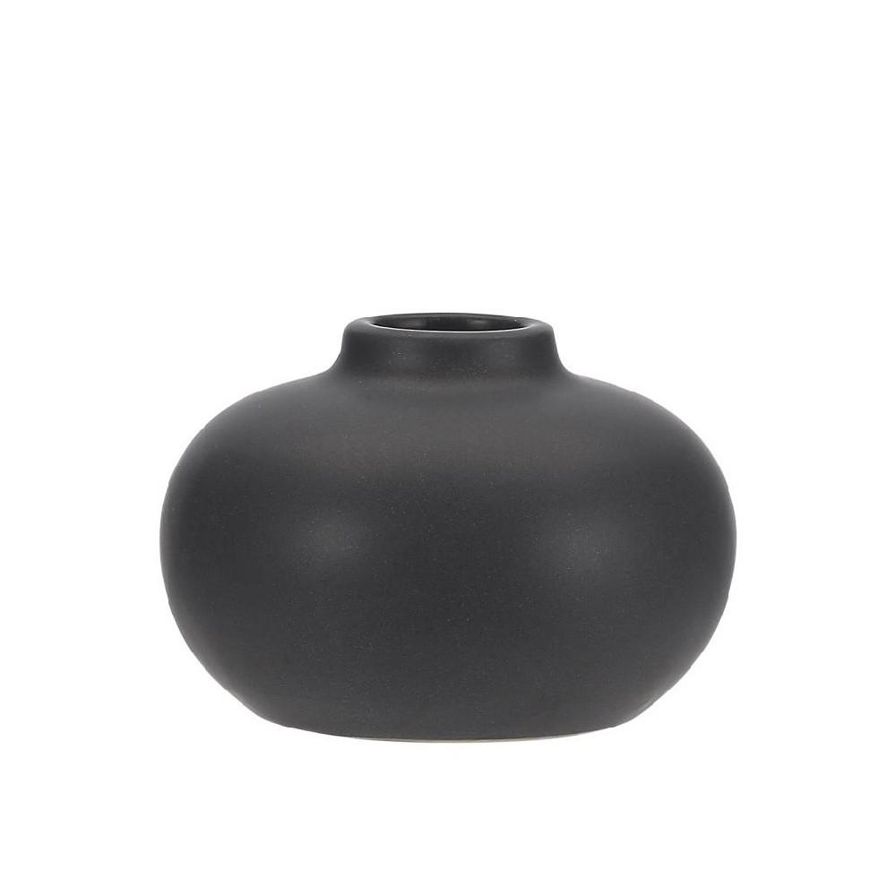 Čierny kameninový svietnik A Simple Mess Telma, ⌀ 8,5 cm